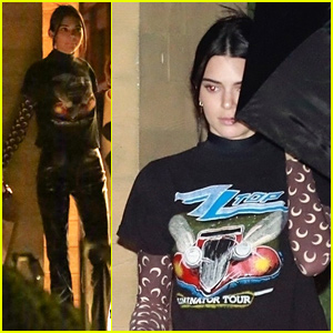 Kendall Jenner Wears Crescent Moons on Her Sleeves for Night Out With Caitlyn