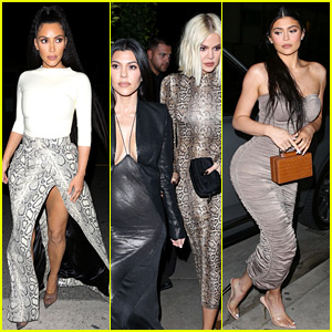 Kylie Jenner Grabs Dinner with the Kardashian Sisters in L.A.