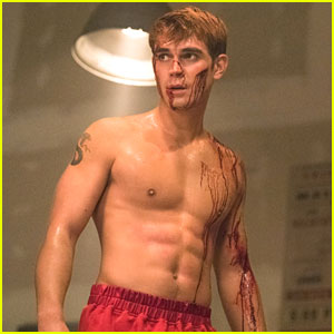 KJ Apa Is Bloody Shirtless On Tonight's All New 'Riverdale'!
