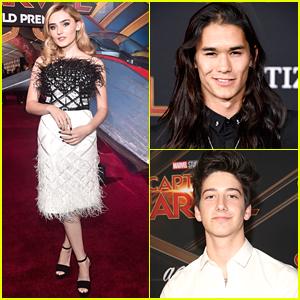Meg Donnelly & Milo Manheim Hit Red Carpet at 'Captain Marvel' Premiere