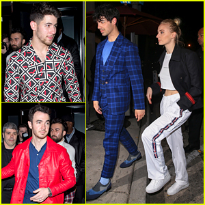 Jonas Brothers Keep It Stylish for Dinner With Sophie Turner