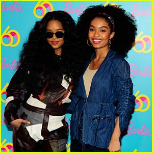 Yara Shahidi Celebrates Barbie's Anniversary with Singer H.E.R.