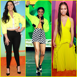 All These Celebs Wore Bright Yellow To The Kids Choice Awards 2019!