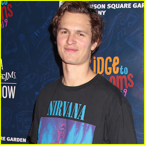 Ansel Elgort is All Smiles at Garden of Dreams Talent Show!