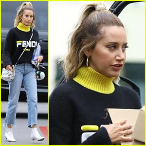Ashley Tisdale Wears Full Fendi Look While Running Errands in LA