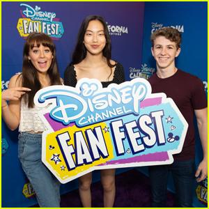Madison Hu Joins Ethan Wacker & DeVore Ledridge at Disney Channel Fan Fest!