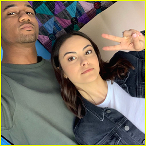 Camila Mendes Starts Filming New Movie 'Windfall' with Jessie T. Usher