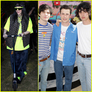 Dylan Minnette, Billie Eilish & More Stop By YouTube Music's Coachella Lounge