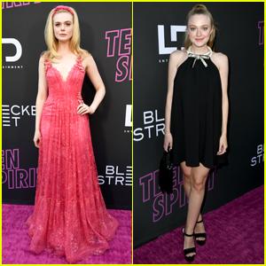 Elle & Dakota Fanning Look So Pretty at 'Teen Spirit' Premiere!
