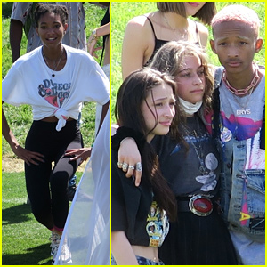 Jaden Smith & Sister Willow Spend Easter Sunday at Coachella!