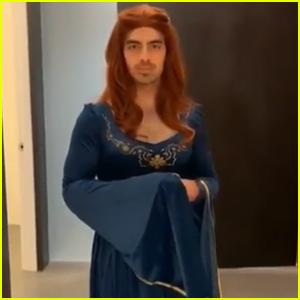 Joe Jonas Shares Video Dressed as Sophie Turner's 'Game of Thrones' Character - Watch!