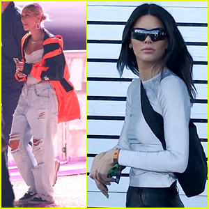 Kendall Jenner & Hailey Bieber Check Out Jaden Smith's Coachella Set!