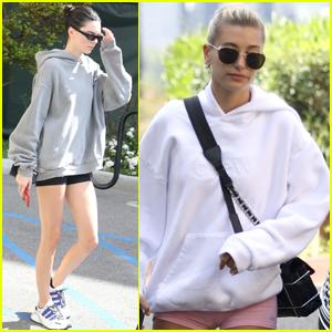 Kendall Jenner & Hailey Bieber Hit Up Morning Pilates Class