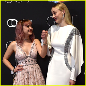 Maisie Williams & Sophie Turner Share Sweet Moment at 'Game of Thrones' Premiere in Ireland