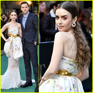 Lily Collins Wows in Couture Gown at 'Tolkien' UK Premiere!
