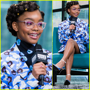 Marsai Martin Steps Out in Style to Promote 'Little' in NYC