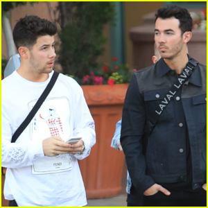 Nick Jonas Runs a Few Errands with Older Brother Kevin