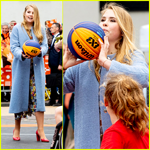 Dutch Crown Princess Catharina-Amalia Plays Some Basketball During King's Day in The Netherlands