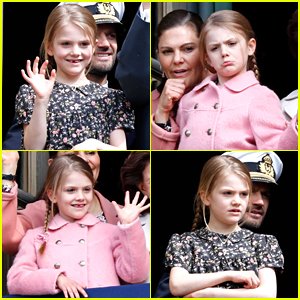 Sweden's Princess Estelle Made The Cutest & Funniest Faces at Grandpa King Carl Gustav's Birthday Appearance