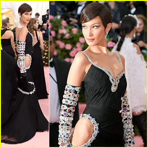 Bella Hadid's Jewel Encrusted Gown Is So Shiny at Met Gala 2019