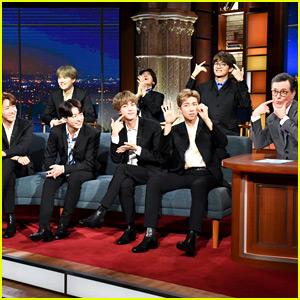 Watch BTS' Fun New Interview with Stephen Colbert!