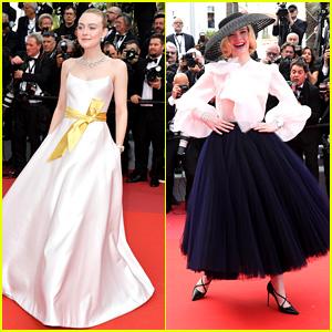 Dakota Fanning Looked Regal in Giorgio Armani Prive at Cannes Film Festival 2019