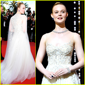 Elle Fanning Closes Out Cannes 2019 with a Princess Moment