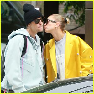 Justin Bieber & Wife Hailey Bieber Run Separate Errands in NYC