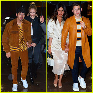 Joe Jonas & Sophie Turner Join Nick Jonas & Priyanka Chopra at 'SNL' After Party