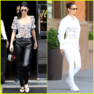 Kendall Jenner & Bella Hadid Spotted Before Getting Ready for Met Gala!