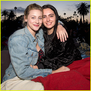 Lili Reinhart Checks Out 'Legally Blonde' Screening at Cinespia