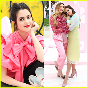 Laura Marano Steps Out in Major Style For Marc Jacobs Daisy Pop-Up with Bailee Madison & Peyton List