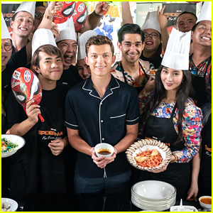 Tom Holland Picked the Best Spider-Man Treat at a Food Competition in Indonesia
