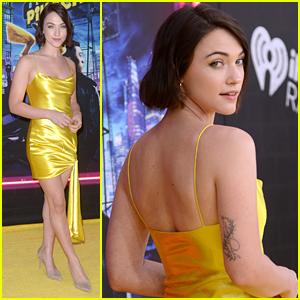 Violett Beane Rocks Yellow Mini-Dress For 'Detective Pikachu' Premiere in NYC