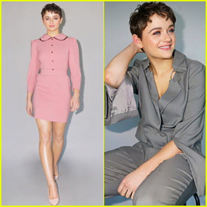 Joey King Wears Two Chic Looks for 'The Act' Press Day!