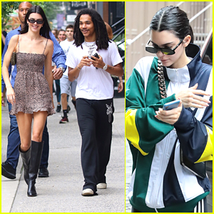 Kendall Jenner Is All Smiles While Walking With Luka Sabbat in NYC