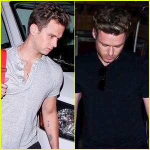 Brandon Flynn Grabs Dinner with Richard Madden in West Hollywood