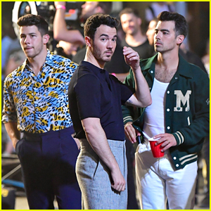 Jonas Brothers Are Filming a New Music Video & We Have Photos!
