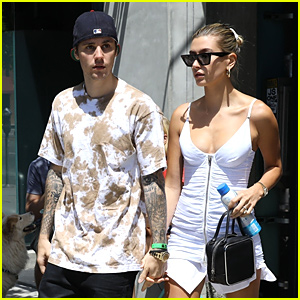 Justin & Hailey Bieber Hold Hands For Sunday Lunch