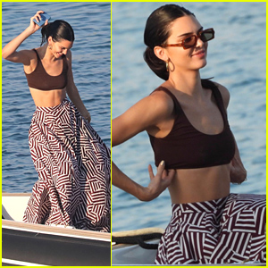 Kendall Jenner Shows Off Her Dance Moves On Boat Ride With Friends in Greece