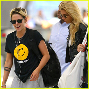 Kristen Stewart Grabs Flight Out of NYC With Stella Maxwell