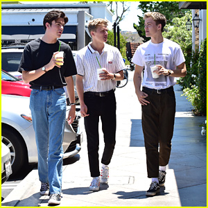 New Hope Club Grabs Lunch Together Out in LA