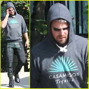 Stephen Amell Gets Into Arrow Suit For Final Season