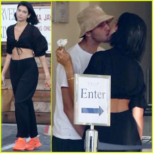 Dua Lipa Kisses Her Boyfriend Anwar Hadid on Their Day Date!