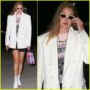 Gigi Hadid Meets Up With Friends For Dinner in NYC