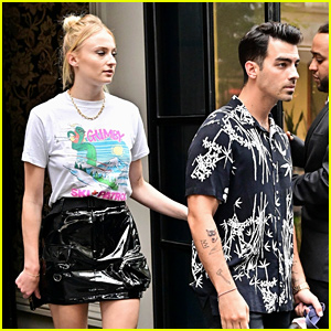 Sophie Turner Rocks Knee High Boots For Date Night With Husband Joe Jonas in NYC