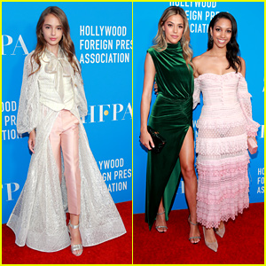 Julia Butters Looks Lovely at HFPA's Annual Grants Banquet