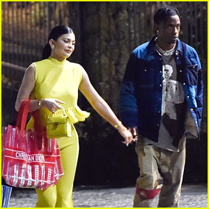 Kylie Jenner Steps Out For Dinner Date With Travis Scott in Italy