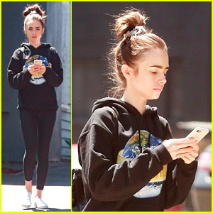Lily Collins Hits Pilates Before Trip To Paris