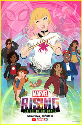 Dove Cameron Returns as Gwen Stacy/Ghost Spider For Marvel Rising's Battle of the Bands!